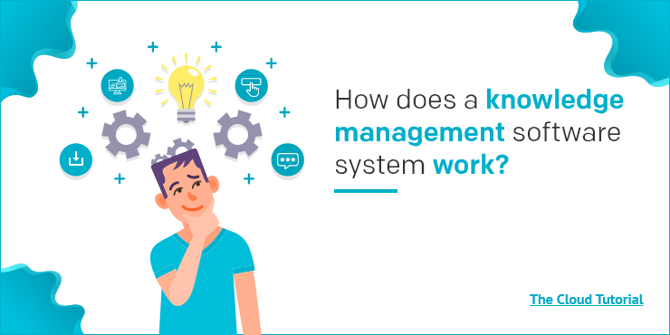How does a knowledge management software system work