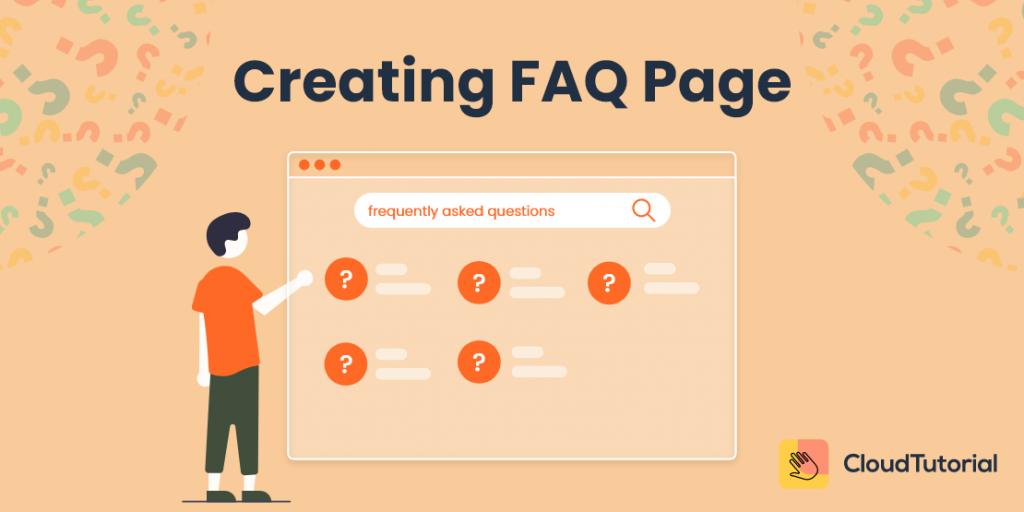 Creating FAQ page