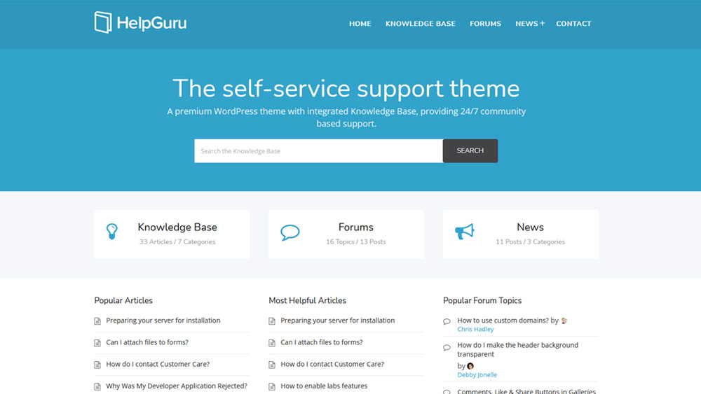 HelpGuru WordPress Knowledgebase
