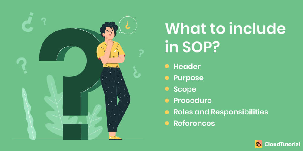 what to include in SOP?
