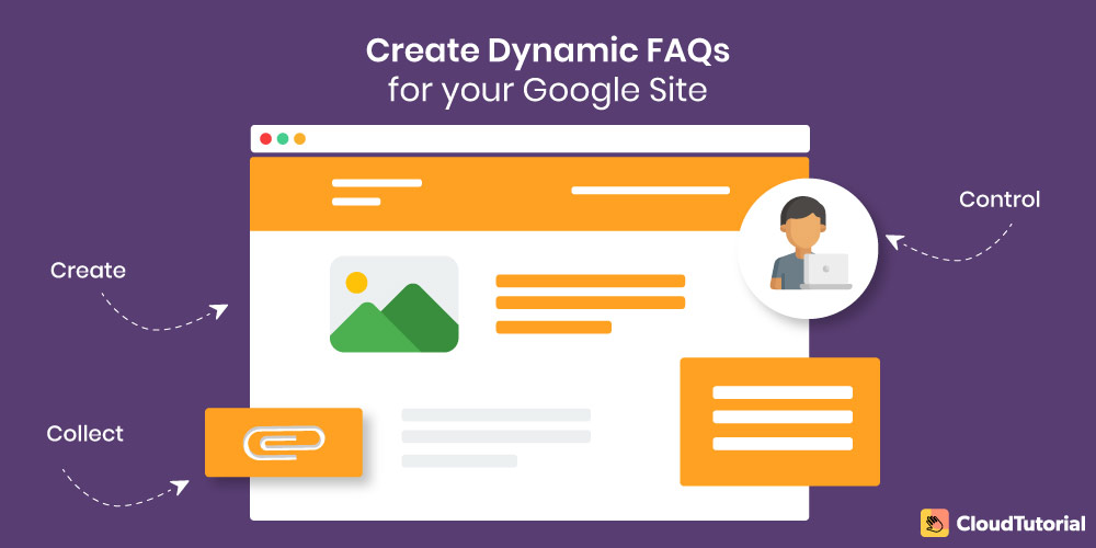 create dynamic faqs for google sites