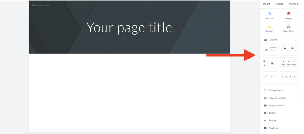 page title for google sites