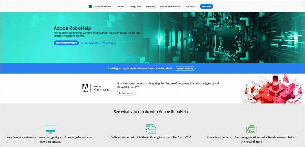 Adobe RoboHelp Screen