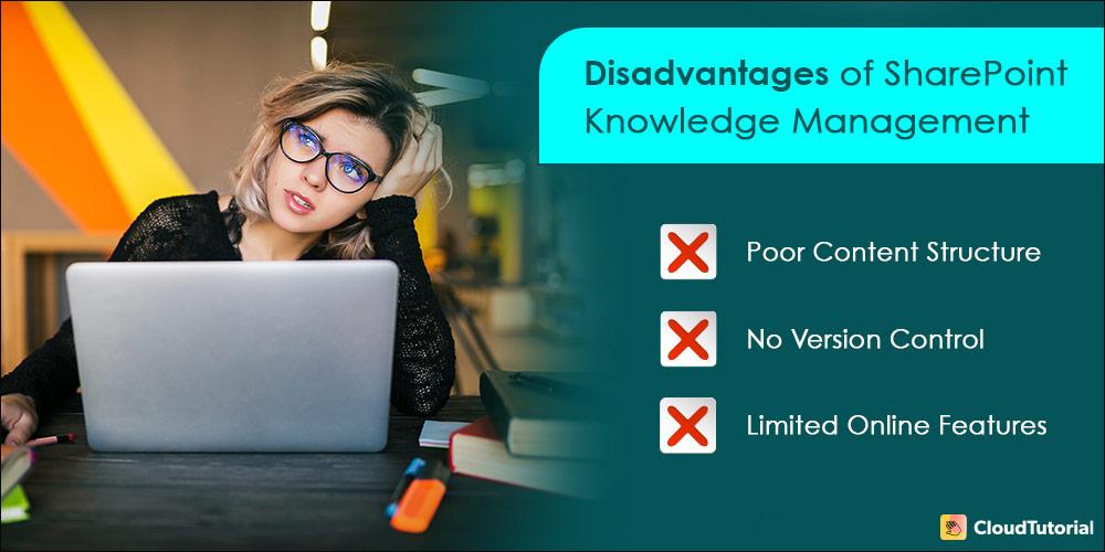 Disadvantage of SharePoint Knowledge Management