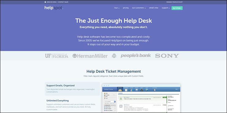 Helpspot Screen