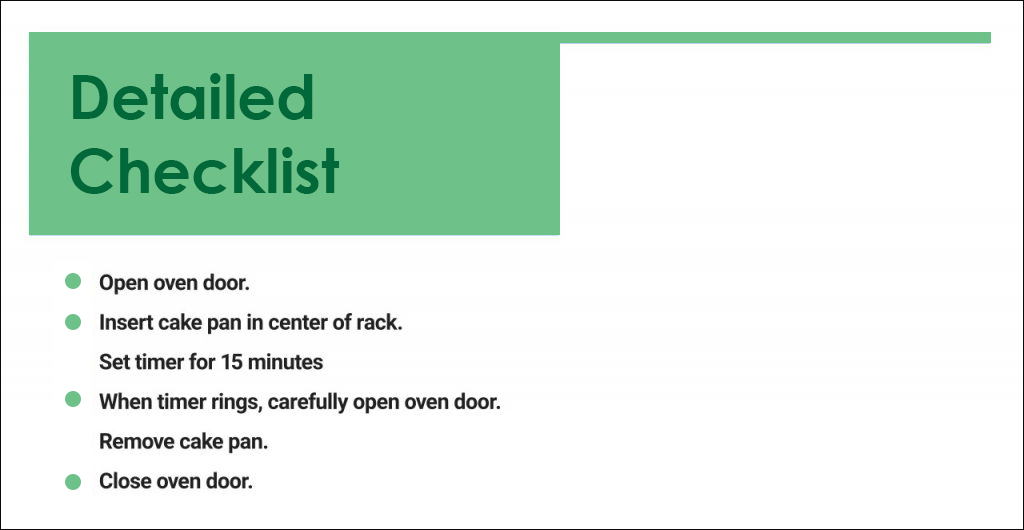 Simple Checklist To Write SOP
